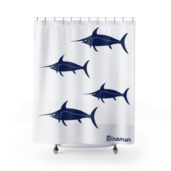 Miramar® Swordfish Collection Shower Curtain