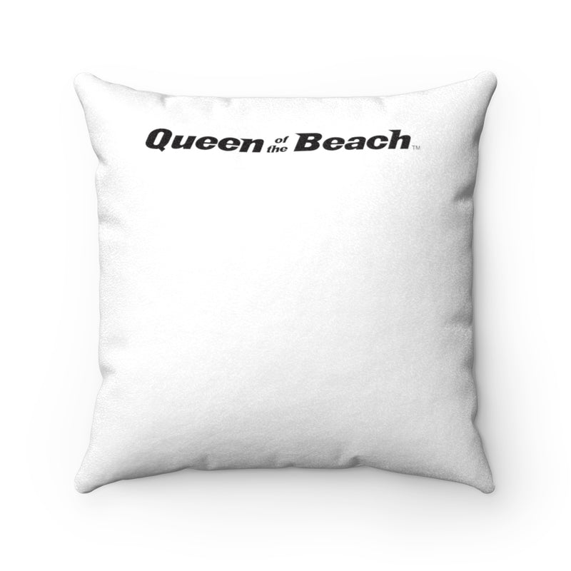 Queen Of The Beach™ Hermosa Beach Collection Faux Suede Square Pillow