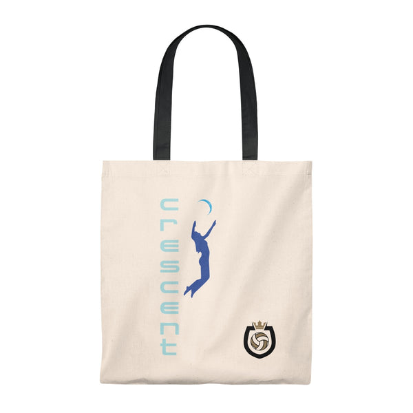 Queen Of The Beach™ Cresent Volleyball Collection Vintage Tote Bag