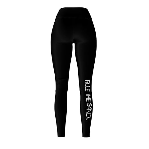 Queen Of The Beach® Women's Black Circle Crown x Rule The Sand Leggings