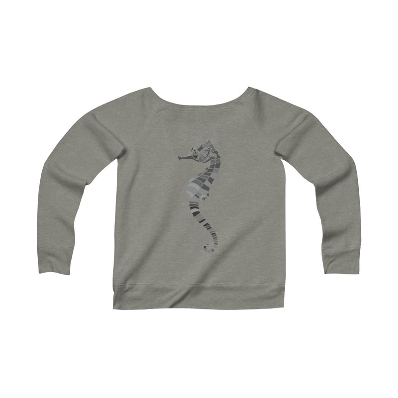 Miramar® Seahorse Collection Women's Sponge Fleece Wide Neck Sweatshirt