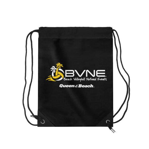 Queen of the Beach® BVNE Black Drawstring Bag