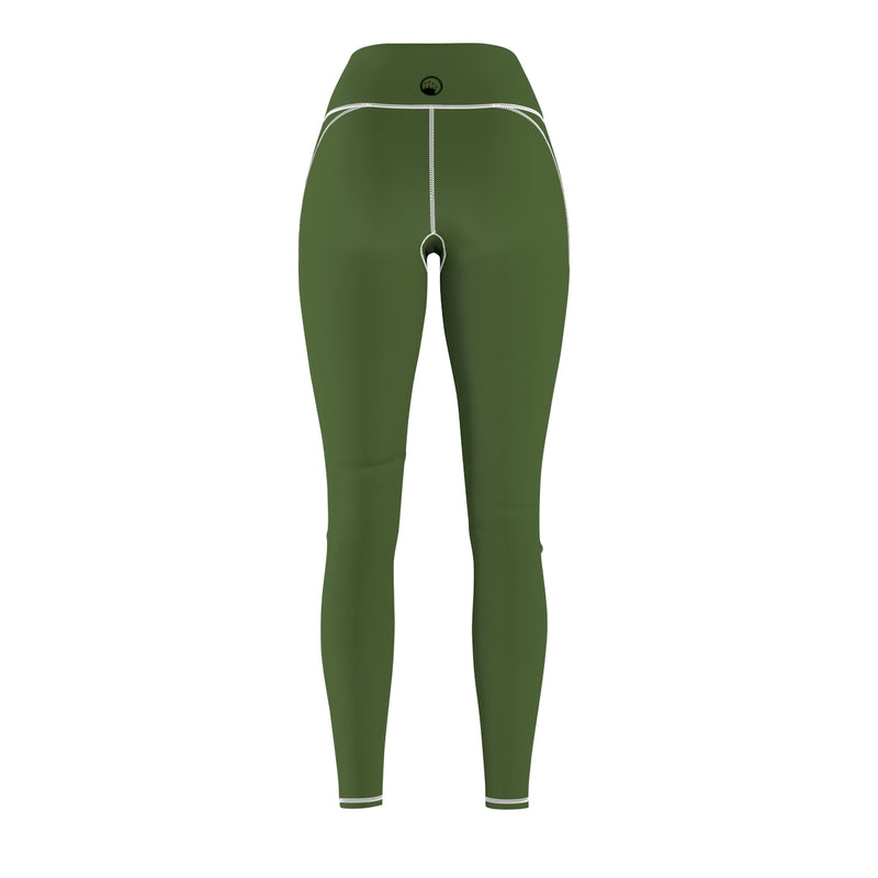 Queen Of The Beach® Women's Basic Army Green Circle Crown Sports Leggings