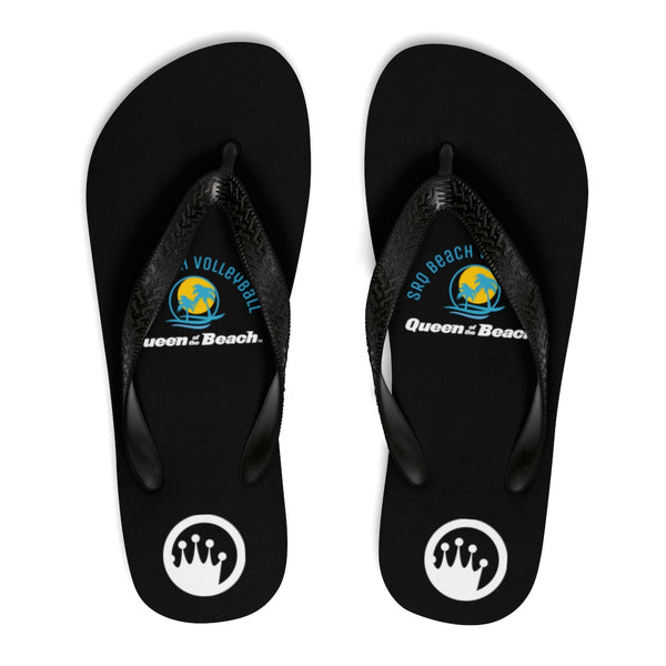 Queen of the Beach®  SRQ Beach Volleyball Black Flip-Flops