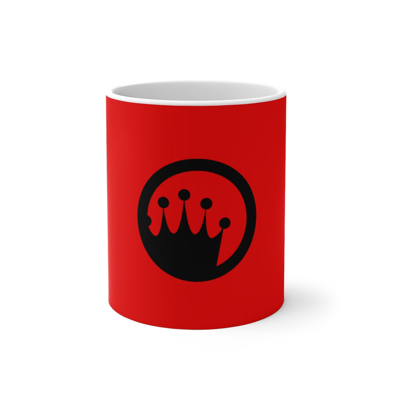 King of the Beach® Black Circle Crown Color Changing Mug
