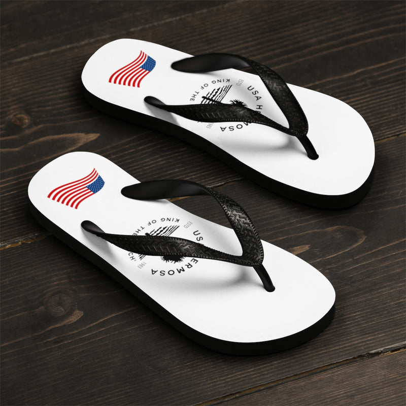 King Of The Beach™ Hermosa Beach Collection Classic White Men's Flip-Flops