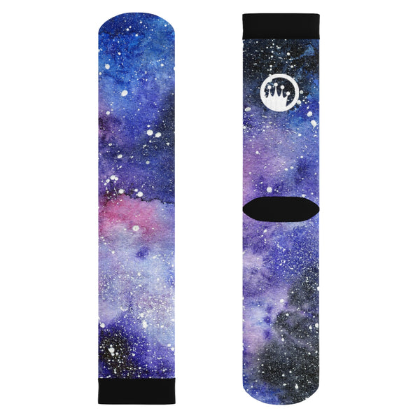 "King Of The Beach® Circle Crown™ ""SpaceJam"" Sublimation Socks"