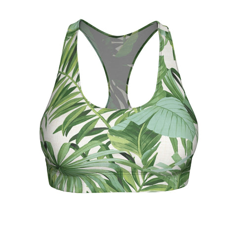 "Queen of the Beach® Circle Crown ""Baja Palm"" Sports Bra"