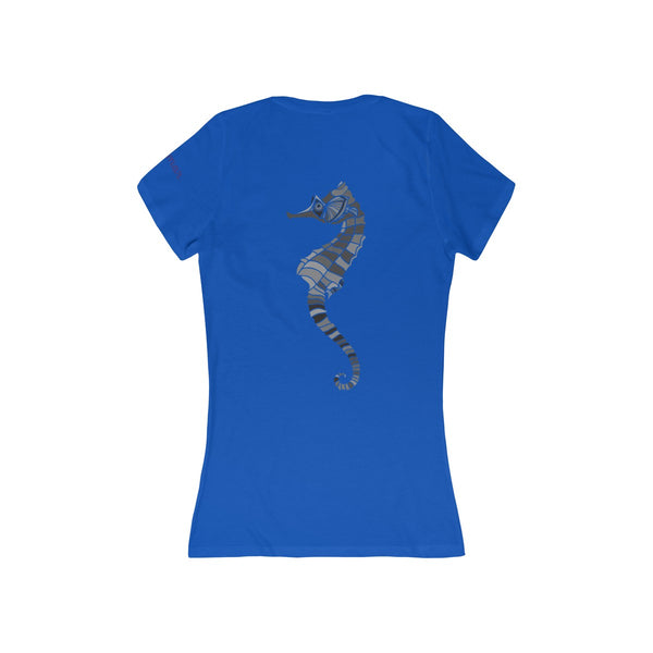 Miramar® Seahorse Collection Women's Deep V-Neck Jersey Tee
