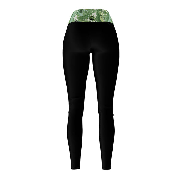 "Queen Of The Beach® Women's ""Baja Palm"" Circle Crown Sports Leggings"