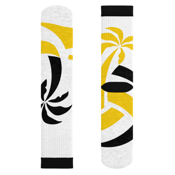 "BVNE Collection™ ""White Palm"" Socks"