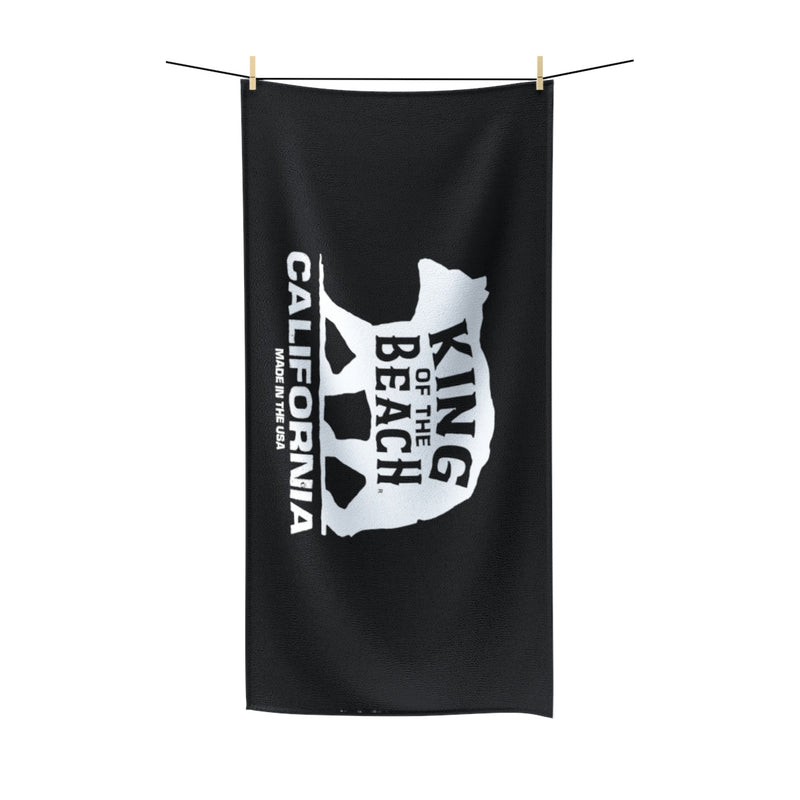 King Of The Beach® California Collection Black Beach Towel