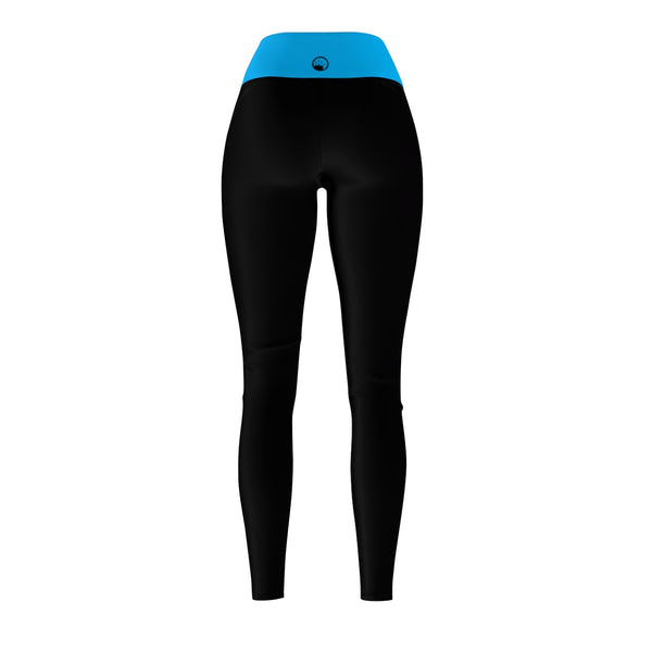 Queen Of The Beach® Women's Light Blue-Band Circle Crown Sports Leggings