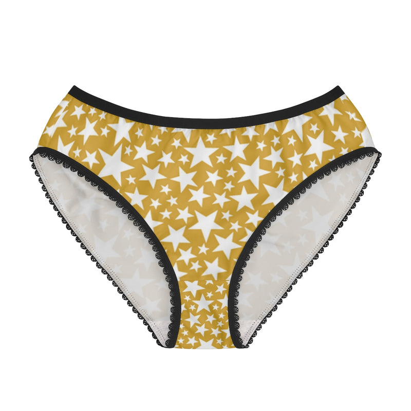 Queen of the Beach® Gold Shooting Stars Women's Briefs