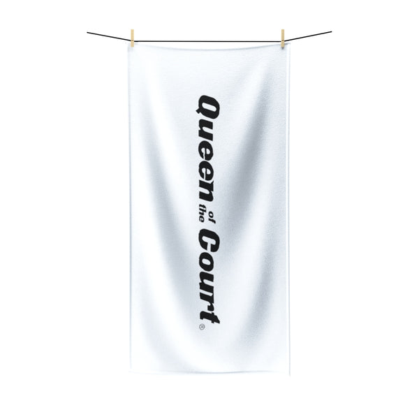 Queen Of The Court® White Beach Towel