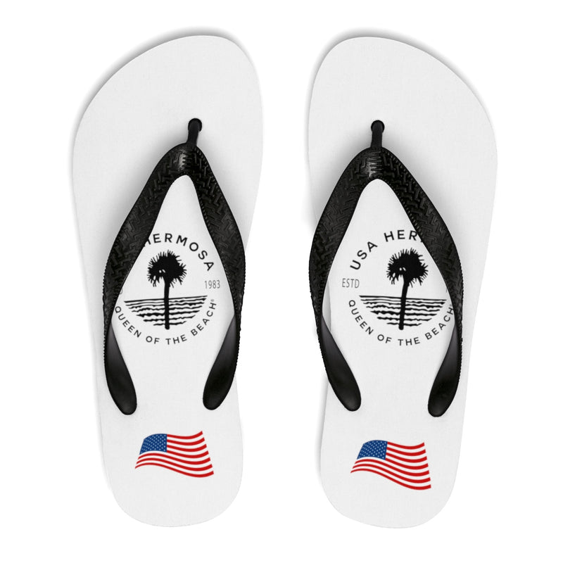 Queen Of The Beach™ Hermosa Beach Collection Classic White Women's Flip-Flops
