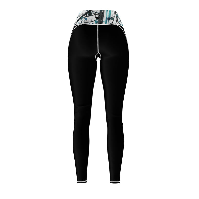 vQueen Of The Beach® Women's Art Deco Circle Crown Sports Leggings