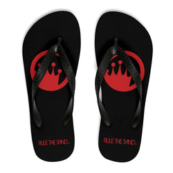 99dd02f27f3c King of the Beach® Red Circle Crown Rule The Sand Flip-Flops – King of the  Beach® Store