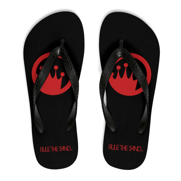King of the Beach® Red Circle Crown Rule The Sand Flip-Flops