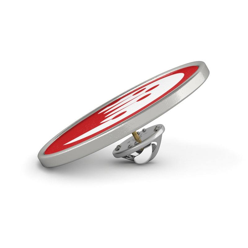 King of the Beach® Red Circle Crown Metal Pin