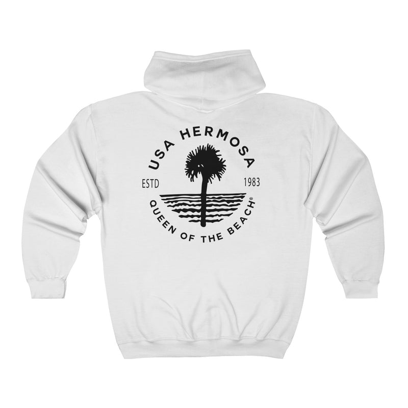 Queen Of The Beach™ Hermosa Beach Collection Classic Unisex Full Zip Hoodie