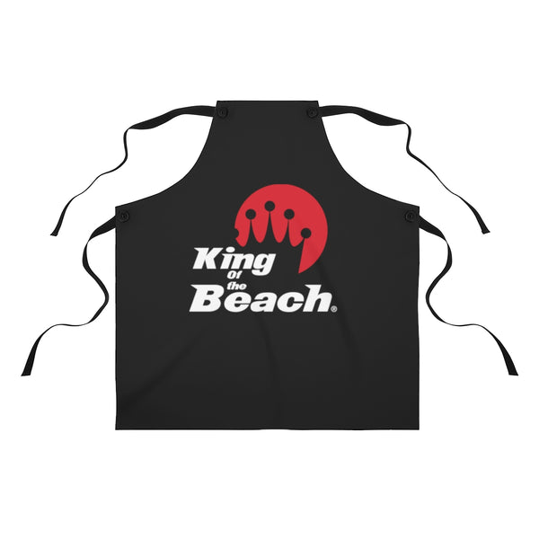 King of the Beach® Stack Logo Black Apron