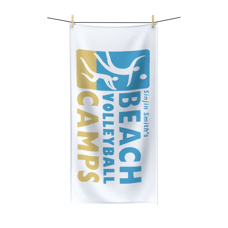 King Of The Beach™ Sinjin Smith's Beach Volleyball Camps White Beach Towel