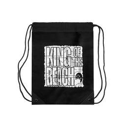 King of the Beach® Black Retro Drawstring Bag