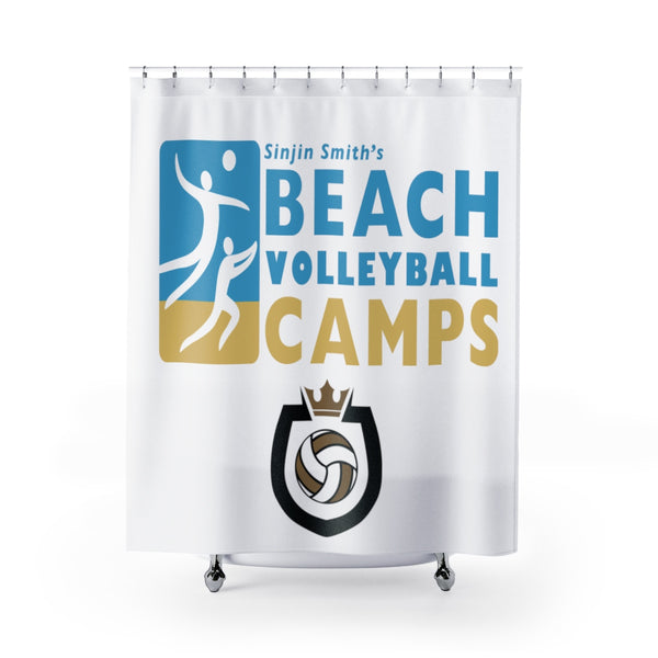 King Of The Beach™ Sinjin Smith's Beach Volleyball Camps Shower Curtains