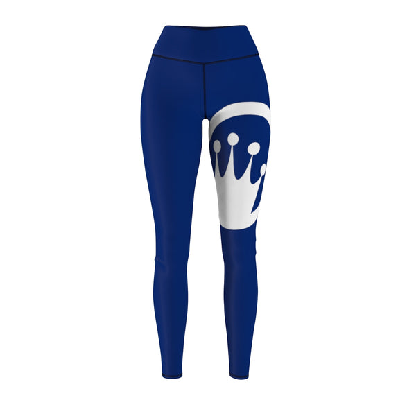 Queen Of The Beach® Women's Navy Blue Circle Crown Tour Sport Leggings