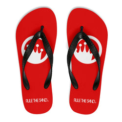King of the Beach® White Circle Crown Rule The Sand Flip-Flops