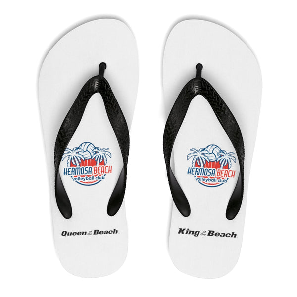 Queen Of The Beach™ Hermosa Beach Collection Unisex White Flip-Flops