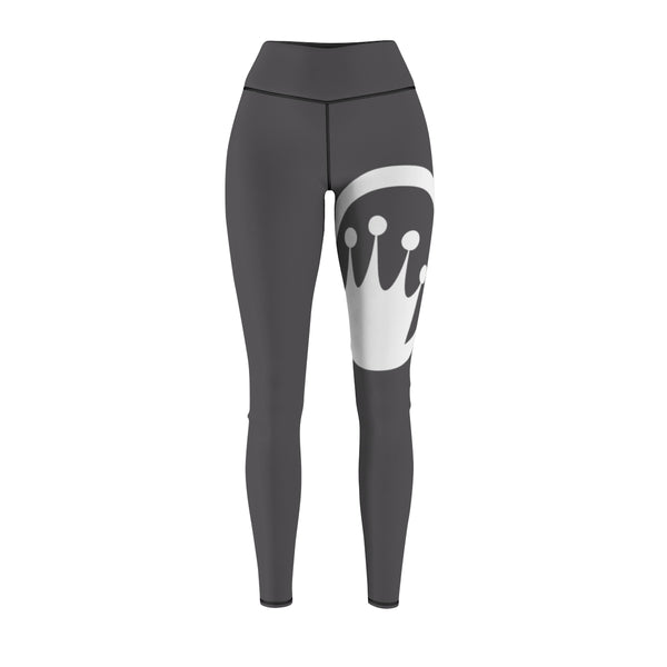 Queen of the Beach® Women's Dark Grey Circle Crown Tour Sport Leggings