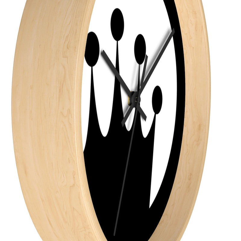 King of the Beach® Black Circle Crown Wall clock