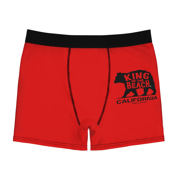 King of the Beach® Calfornia Collection Red Men's Boxer Briefs