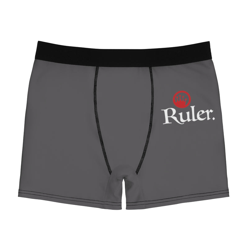 Ruler Collection Red Circle Crown Grey  Men's Boxer Briefs