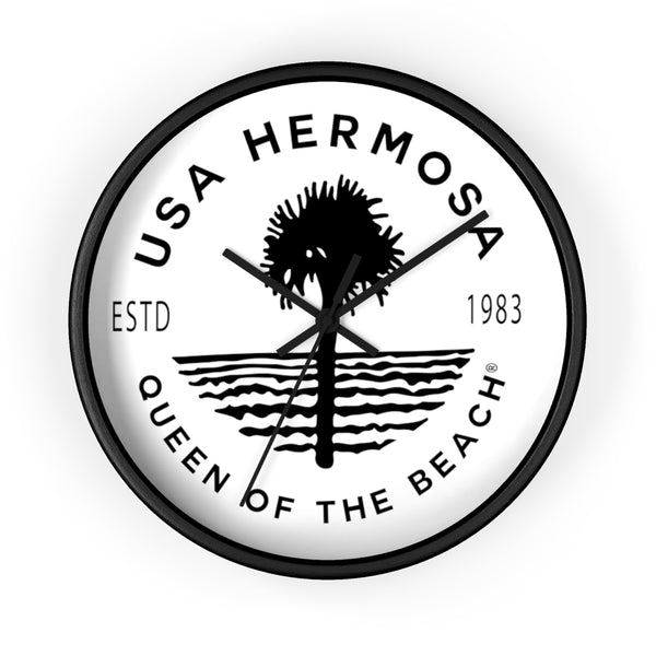Queen of the Beach® Hermosa Beach Volleyball Wall clocks