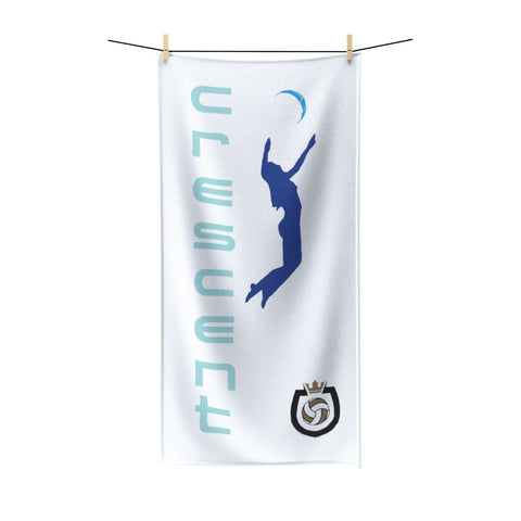 King Of The Beach™ Cresent Volleyball Collection White Beach Towel