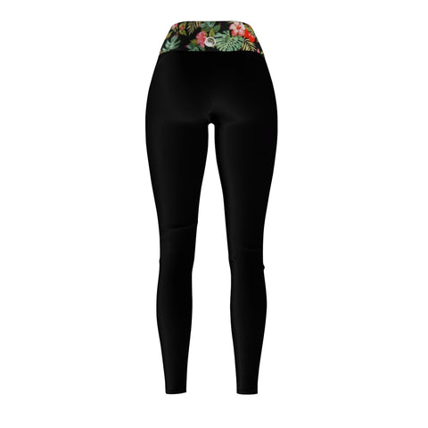 "Queen Of The Beach® Women's ""Monstera"" Circle Crown Sports Leggings"