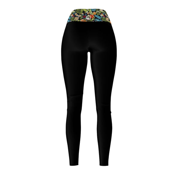 Queen Of The Beach® Women's Maui Floral Circle Crown Sports Leggings