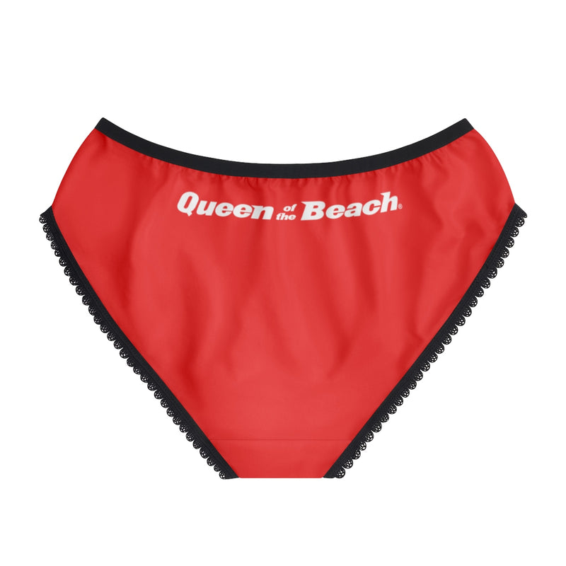 Queen of the Beach® Circle Crown Red Women's Briefs
