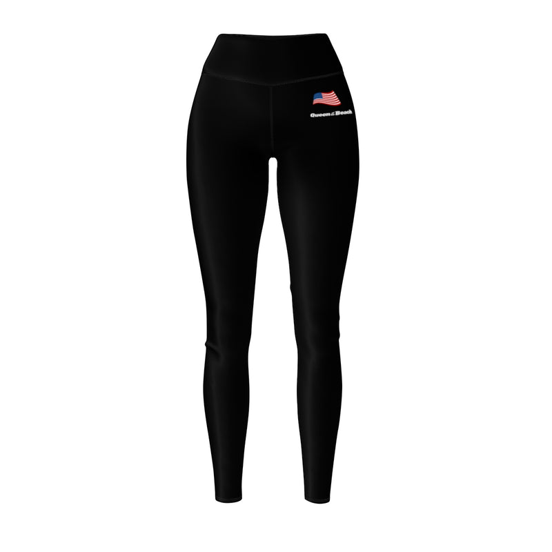 Queen Of The Beach™ Hermosa Beach Collection Black Women's Sport Leggings