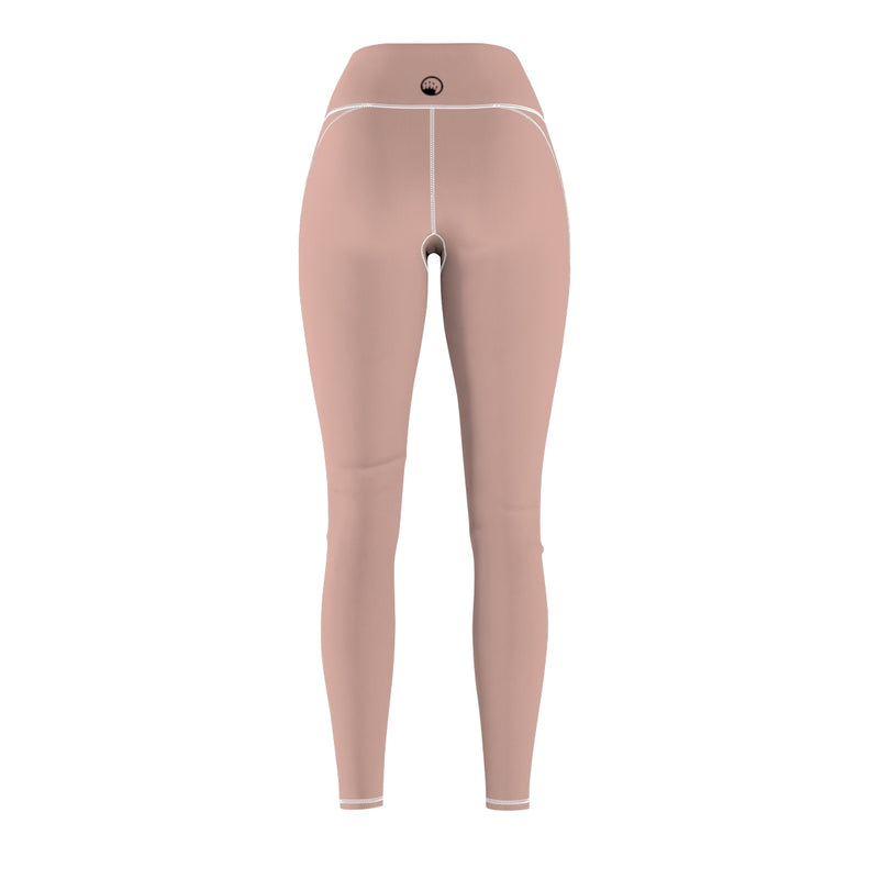 Queen Of The Beach® Women's Millennial Pink Basic Shield Logo Sports Leggings