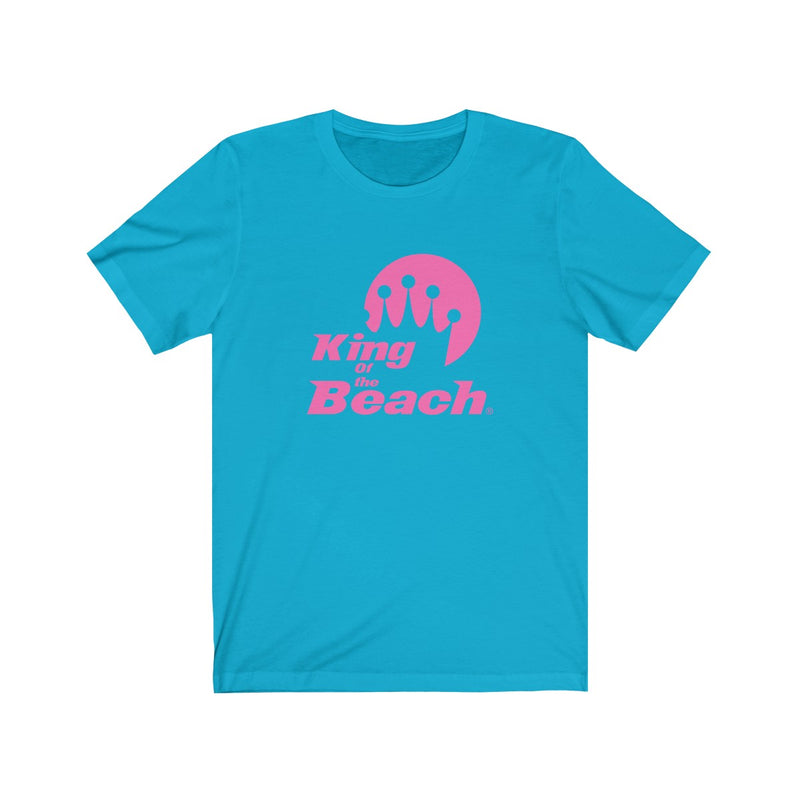 2019 King of the Beach® Stack Logo Hot Pink Tee