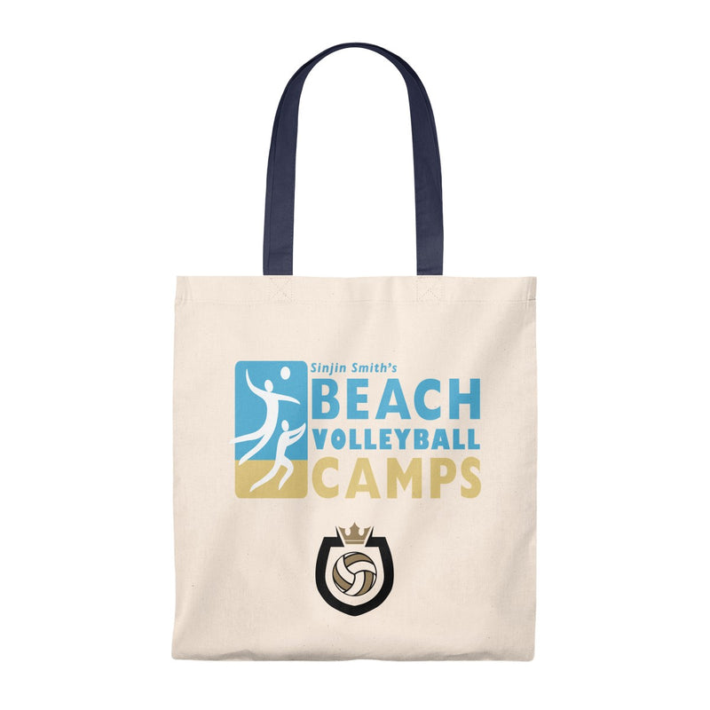 Queen Of The Beach™ Sinjin Smith's Beach Volleyball Camps Tote Bag - Vintage
