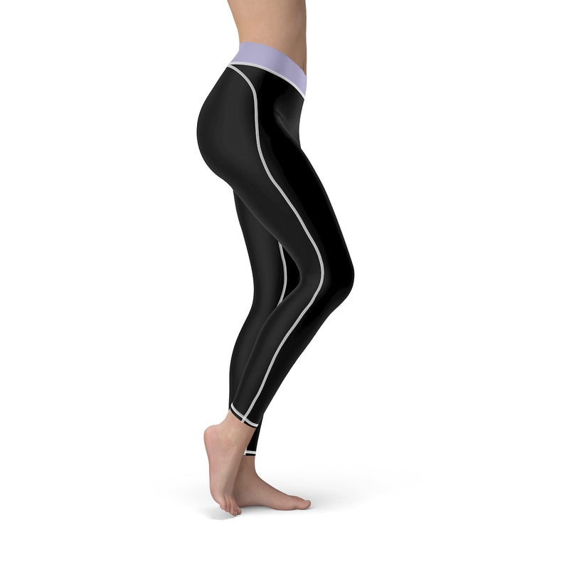Queen Of The Beach® Women's Lilac-Band Circle Crown Sports Leggings
