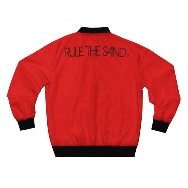 King of the Beach® Men's Red Rule The Sand AOP Bomber Jacket