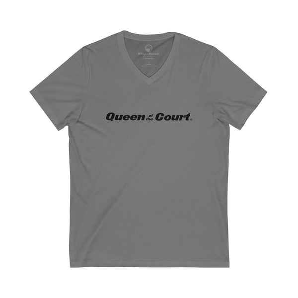 Queen of the Court® Unisex Jersey Short Sleeve V-Neck Tee