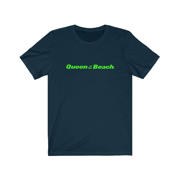 2019 Queen of the Beach® Signature Logo Neon Green Tee
