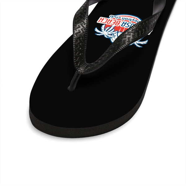 Queen Of The Beach™ Hermosa Beach Collection Unisex Black Flip-Flops